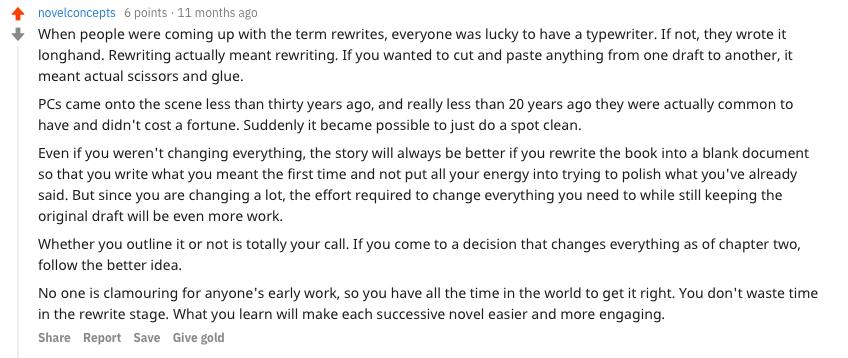 Novel Concepts advice